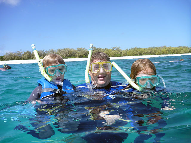 Snorkelling with the kids